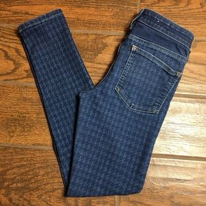 Anthropologie Pilcro Houndstooth Skinny Jeans 27